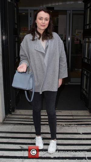 Keeley Hawes - Keeley Hawes leaving the BBC Radio 2 studios at BBC Portland Place - London, United Kingdom -...
