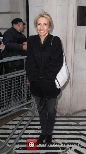 Sam Taylor-Johnson - Sam Taylor-Johnson leaving the BBC Radio 2 studios in Portland Place at BBC Portland Place - London,...