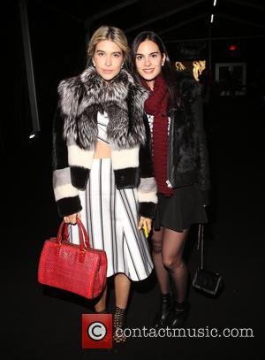 Isa Jaime and Fernanda Gomez - Mercedes-Benz Fashion Week New York Fall/Winter 2015 - Hervé Leger - Departures - New...