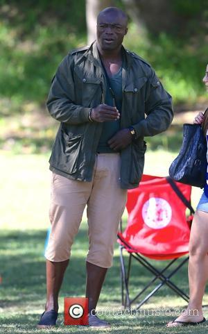 Seal Samuel - Seal watches his children play in a soccer game - Los Angeles, California, United States - Saturday...