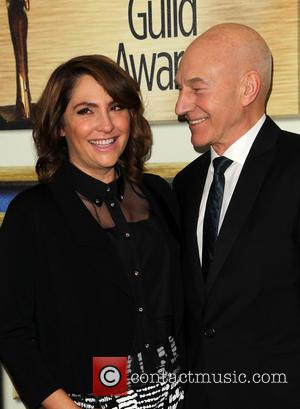 Patrick Stewart and Jill Soloway - Photographs of a host of stars as they arrived for the 2015 Writers Guild...