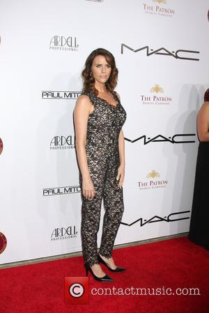 Amy Landecker - Make-Up Artists & Hair Stylists Guild Awards - Arrivals at Paramount Theater, Paramount Studio - Los Angeles,...