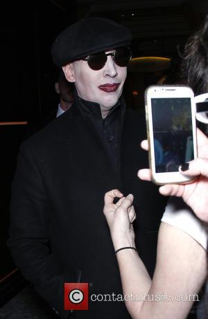 Marilyn Manson - Marilyn Manson hosts 'Black Heart Ball' - Arrivals at Hyde Nightclub - Las Vegas, Nevada, United States...