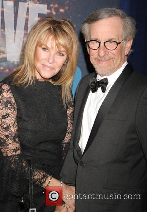 Steven Spielberg and Kate Upshaw - A host of stars including previous cast members were snapped as they arrived...