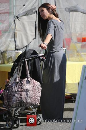 Roselyn Sánchez - Roselyn Sánchez takes her daughter, Sebella Rose to the Farmers Market - Los Angeles, California, United States...