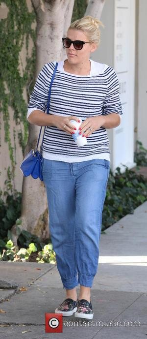 Busy Philipps - Cougar Town actress Busy Philipps was spotted    before heading for the Kate Somerville skincare...