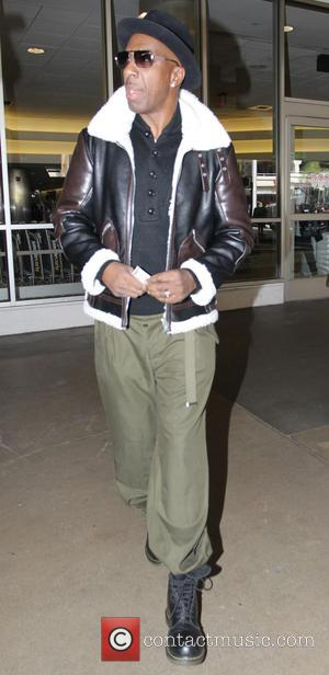 American actor and stand up comedian J.B. Smoove was snapped as he arrived in to Los Angeles International Airport wearing...