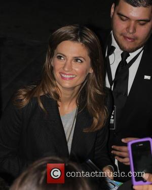 Stana Katic - Stana Katic greets fans and signs autographs as she departs Kimmel Live! in Hollywood at Jimmy Kimmel...