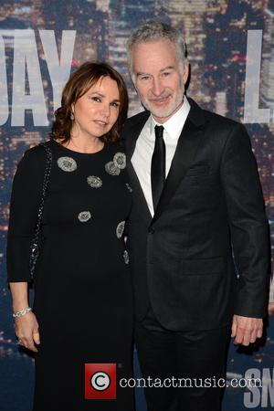 Patty Smyth and John McEnroe - A host of stars including previous cast members were snapped as they arrived...