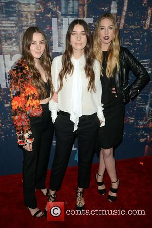 Haim - A host of stars including previous cast members were snapped as they arrived  to the Rockerfeller Plaza...