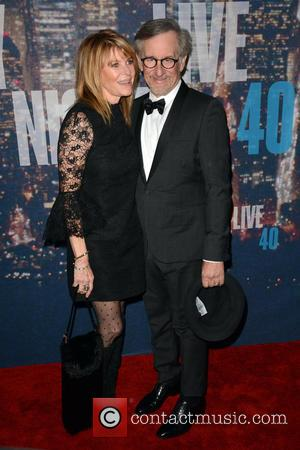 Kate Capshaw and Steven Spielberg - A host of stars including previous cast members were snapped as they arrived...