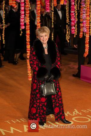 Gloria Hunniford - Premiere of 'The Second Best Exotic Marigold Hotel' - Arrivals at Leicester Square - London, United Kingdom...