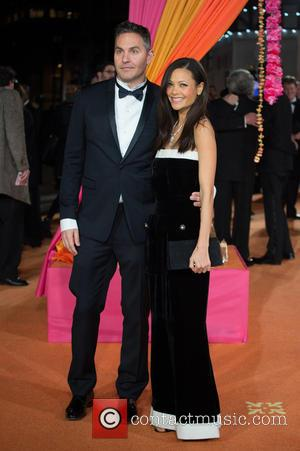 Thandie Newton and Ol Parker - A host of stars were photographed as they attended the UK premiere of 'The...