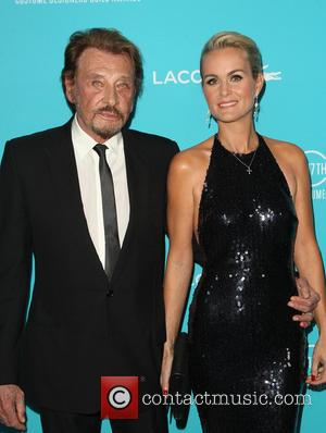 Johnny Hallyday and Laeticia Hallyday - Shots of a variety of stars as they arrived for the 17th Costume Designers...