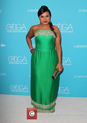 Mindy Kaling - Shots of a variety of stars as they arrived for the 17th Costume Designers Guild Awards which...