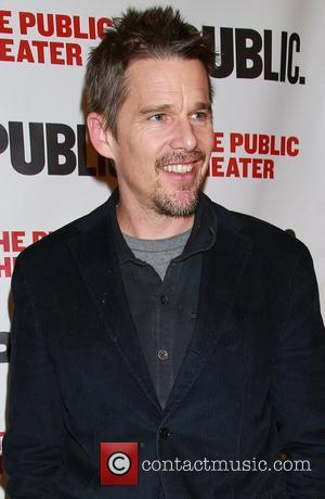 Ethan Hawke - Opening night of the Alexander Hamilton bio-musical Hamilton, at the Public Theater - Arrivals. at Public Theater,...