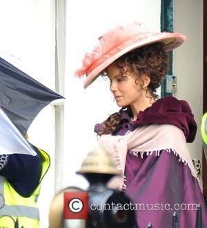 Kate Beckinsale - 'Love and Friendship' filming on set in Dublin - Dublin, Ireland - Tuesday 17th February 2015