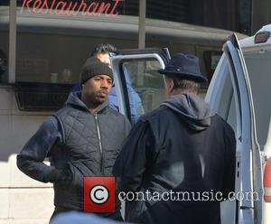 Michael B. Jordan and Sylvester Stallone - Sylvester Stallone and Michael B Jordan at Adrian's restaurant on the set of...