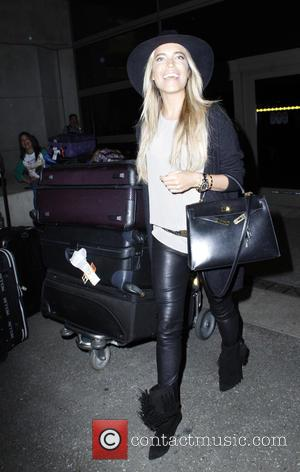 Sylvie van der Vaart - German TV presenter Sylvie van der Vaart arrives at Los Angeles International Airport (LAX) at...