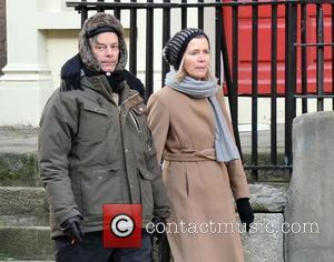 Whit Stillman - American Director Whit Stillman seen holding hands  and walking with a female companion - Dublin, Ireland...