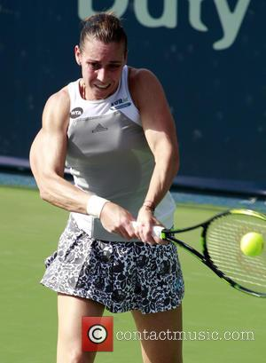 Flavia Penneta - Dubai Duty Free Tennis Championships - Flavia Pennetta vs. Angelique Kerber - Dubai, United Emirates - Wednesday...