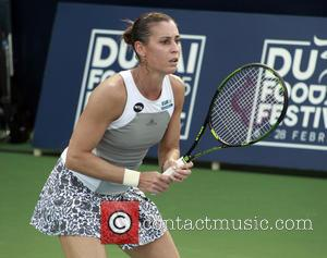 Flavia Pennetta - Dubai Duty Free Tennis Championships - Flavia Pennetta vs. Angelique Kerber - Dubai, United Emirates - Wednesday...