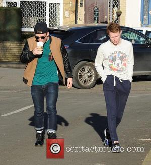 Jamie Borthwick and Danny-Boy Hatchard - The cast of 'Eastenders' outside BBC Studios - London, United Kingdom - Wednesday 18th...