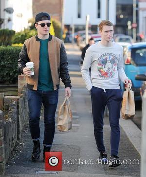 Jamie Borthwick and Danny-Boy Hatchard - The cast of 'Eastenders' the outside BBC Studios - London, United Kingdom - Wednesday...