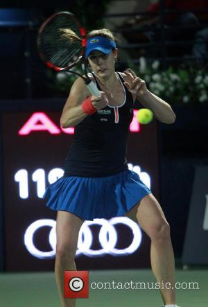 Alize CORNET - Alize CORNET, (FRA)  vs  Caroline WOZNIACKI (DEN), Dubai Tennis Tournament WTA Women's Tennis at Olympia...