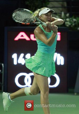 Caroline WOZNIACKI - Alize CORNET, (FRA)  vs  Caroline WOZNIACKI (DEN), Dubai Tennis Tournament WTA Women's Tennis - Dubai,...