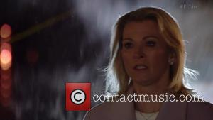 Gillian Taylforth and Cathy Beale - Cathy Beale played by Gillian Taylforth returns during a live clip of 'EastEnders' Shown...