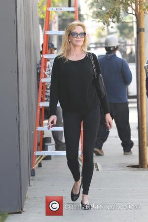 Melanie Griffith - Melanie Griffith leaving Zinque cafe on Melrose Avenue - Los Angeles, California, United States - Thursday 19th...