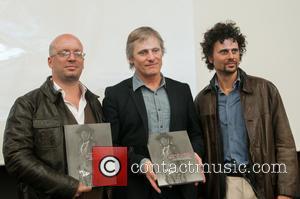 Viggo Mortensen, Federico Bossert and Diego Villar - Viggo Mortensen attends the presentation for the book 'Sons of the Forest'...