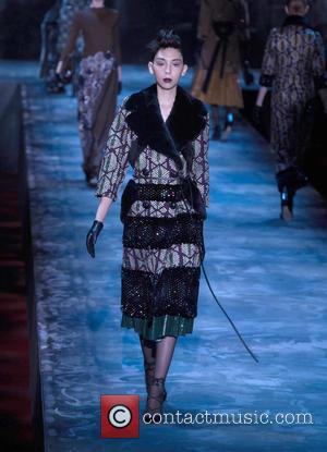 Model - Mercedes-Benz Fashion Week New York Fall/Winter 2015 - Marc Jacobs - Runway - New York City, New York,...