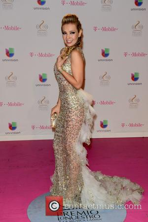 Thalia - 2015 Premio Lo Nuestro Awards at the American Airlines Arena, honoring excellence in Latin music - Arrivals at...