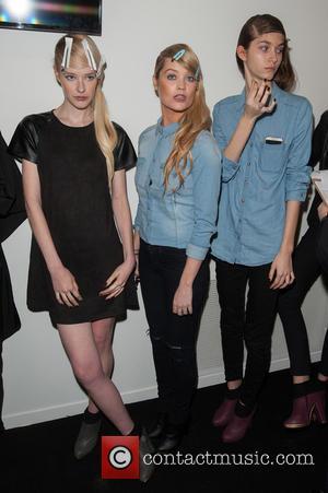 Laura Whitmore (C) - London Fashion Week AW15 - Bora Aksu - Arrivals at London Fashion Week - London, United...