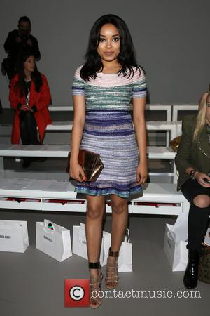 Dionne Bromfield - London Fashion Week Autumn/Winter 2015 - Bora Asku - Front Row at London Fashion Week - London,...