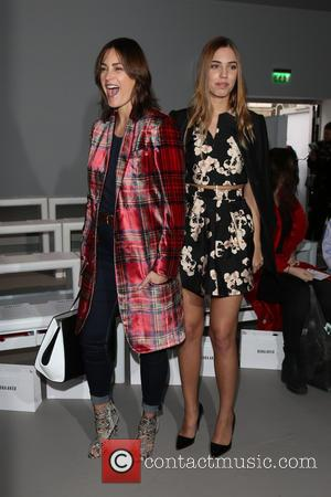 Yasmin Le Bon and Amber Le Bon - London Fashion Week Autumn/Winter 2015 - Bora Asku - Front Row at...