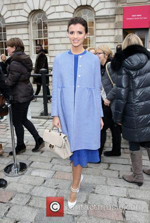 Lucy Mecklenburgh - London Fashion Week Autumn/Winter 2015 - Bora Asku - Outside Arrivals at London Fashion Week - London,...