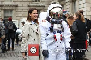 Lucy Watson - London Fashion Week Autumn/Winter 2015 - Bora Asku - Outside Arrivals at London Fashion Week - London,...
