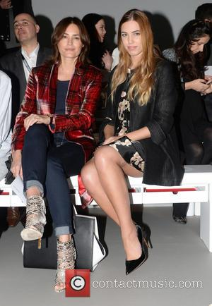 Yasmin LeBon and Amber LeBon - London Fashion Week Autumn/Winter 2015 - Eudon Choi - Front Row at London Fashion...
