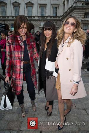 Yasmin Le Bon - London Fashion Week A/W 2015 - Celebrity Sightings - Day 1 at Somerset House, London Fashion...