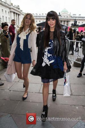 Zara Martin and Jade Williams - The first day of London Fashion Week at Somerset House - Attending at Somerset...