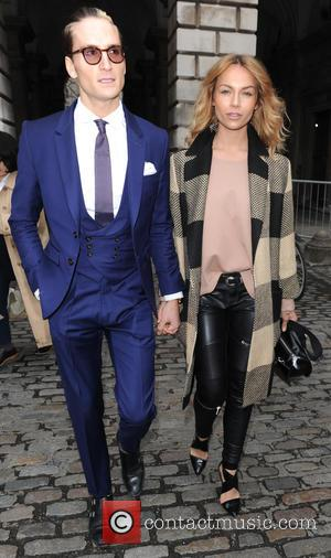 Oliver Proudlock and Emma Louise Connolly - London Fashion Week A/W 2015 - Celebrity Sightings - Day 1 at London...
