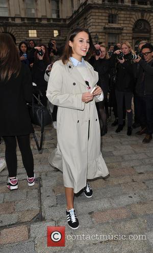 Lucy Watson - London Fashion Week A/W 2015 - Eudon Choi - Arrivals & Departures at London Fashion Week -...