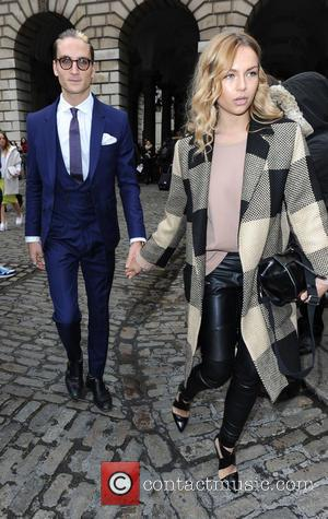 Oliver Proudlock and Emma Louise Connolly - London Fashion Week A/W 2015 - Bora Aksu - Arrivals at London Fashion...