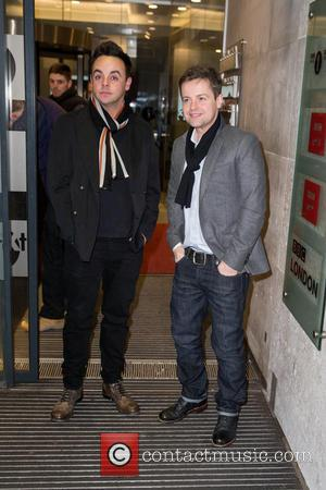 Anthony McPartlin, Ant, Declan Donnelly and Dec - Celebrities at the BBC Radio 1 at BBC Portland Place - London,...