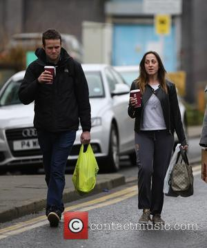 Natalie Cassidy and Marc Humphreys - A make up free Natalie Cassidy and her boyfriend Marc Humphreys arrive at BBC...