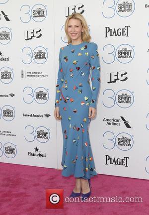 Cate Blanchett and Cate Blanchett - 2015 Film Independent Spirit Awards - Arrivals at Santa Monica Beach, Independent Spirit Awards...