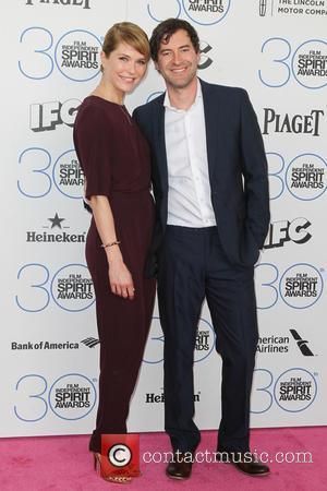 Katie Aselton and Mark Duplass - 2015 Film Independent Spirit Awards - Arrivals at Santa Monica Beach, Independent Spirit Awards...